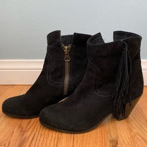 Sam Edelman Louie Ankle Fringe Trimmed Boot